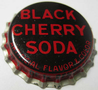 BLACK CHERRY SODA Crown Bottle Cap Less than 1/10 of 1% Benzoate of Soda