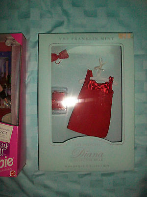 Franklin Mint Red Dress For Princess Diana Doll Or Bear