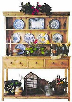 5 Ft Open Hutch 25 Country Colors Antique Country Reproduction Distress Levels