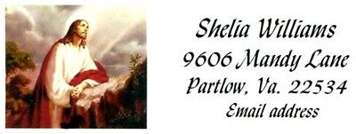 Jesus looking to Heaven Religious Faith Address Labels