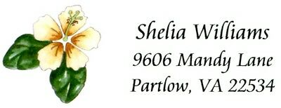 Hibiscus 1 Flower Address Labels
