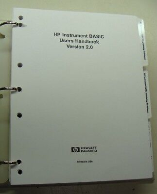 Hp Instrument Basic Users Handbook V. 2.0