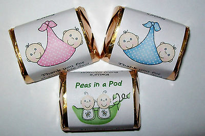 120 Twins Baby Shower Party Favors Candy Wrappers