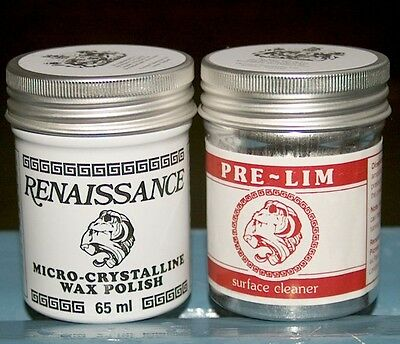 Pre-Lim Cleaner & Renaissance Wax  For Multi Surfaces