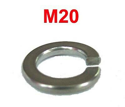 M20 Stainless Steel Spring Washers - 20mm Stainless Spring Washer x10