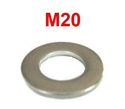 M20 Stainless Steel Washers 20mm Flat Washers (21mm I.D x 37mm O.D) x10