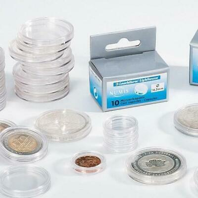 10 New Lighthouse coin capsules - Any Size mix 'n match