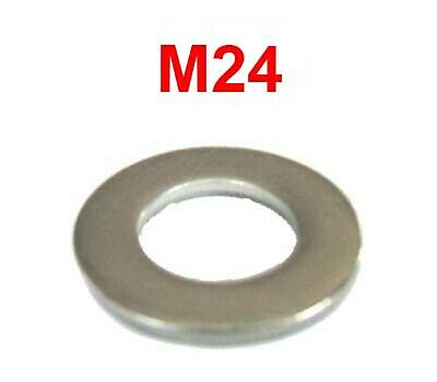 M24 Stainless Steel Washers 24mm Flat Washers (25mm I.D x 44mm O.D - Form B) x10
