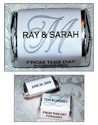 120 Monogram Wedding Favors Candy Wrappers