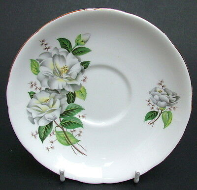 Vintage 1980's Royal Stafford Camellia Pattern Tea Saucers Only 14.5cm Dia