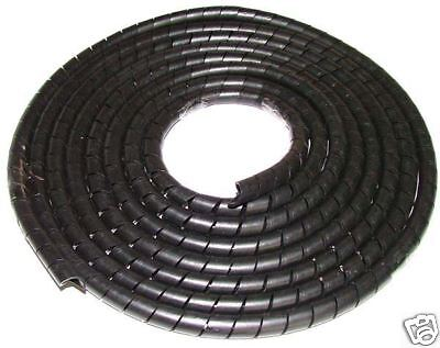 Black Cable Tidy, Cable Wrap, Spiral Cable Wrap Black Cable Organiser x4 Metres