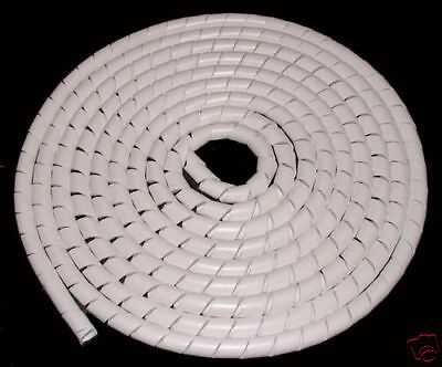 White Cable Tidy / Cable Wrap x4 metres