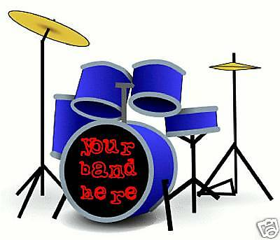 Get Your Band Name On Your Drum Kit - Vinyl Sticker