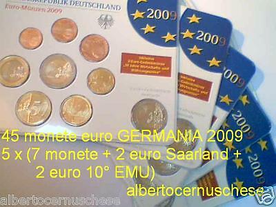 2009 5 blister x 9 monete Germania allemagne alemania