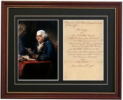 BEN BENJAMIN FRANKLIN Signed Epitath autograph photo