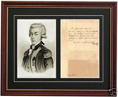 Marquis de Lafayette George Washington Signed Signature