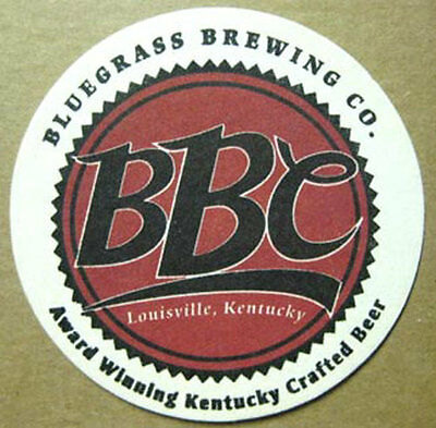 BBC AWARD WINNING Beer COASTER, Mat, Bluegrass Brewery, Louisville KENTUCKY 2000