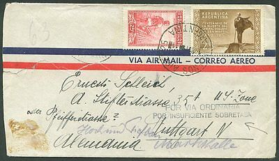 ARGENTINA TO GERMANY Old Air Mail Cover VF