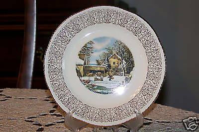Homer Laughlin Currier & Ives - 6 3/8-inch Bread Plate