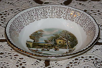 Homer Laughlin Currier & Ives - Berry/Dessert Bowl