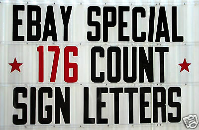 """New 8"""" Changeable PLASTIC LETTERS set for Outdoor SIGNS"""