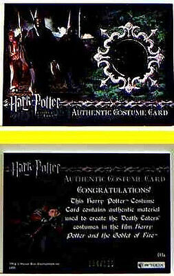 Harry Potter Goblet of Fire 5 Case Chase Death Eater C13a Costume Card Limited