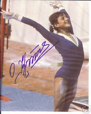 OLGA KORBUT - OLYMPIC GOLD MEDALIST 1972 -  personally signed 10x8