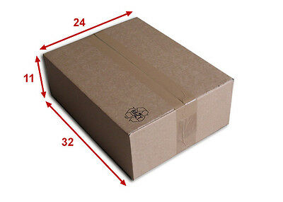 25 boîtes emballages cartons  n° 39   - 320x240x110 mm - simple cannelure