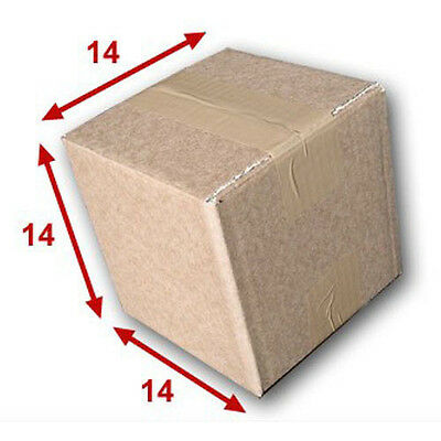 50 boîtes emballages cartons  n° 01A - 140x140x140 mm - simple cannelure