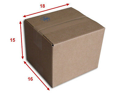 50 boîtes emballages cartons  n° 05   - 180x160x150 mm - simple cannelure