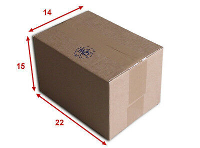 50 boîtes emballages cartons  n° 16   - 220x150x140 mm - simple cannelure