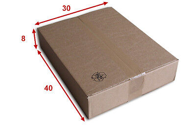 50 boîtes emballages cartons  n° 52   - 400x300x80 mm - simple cannelure