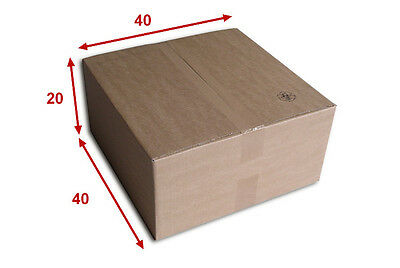 50 boîtes emballages cartons  n° 54   - 400x400x200 mm - simple cannelure