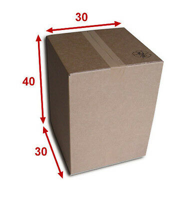 5 boîtes emballages cartons  n° 32B - 300x300x400 mm - simple cannelure