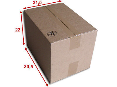 5 boîtes emballages cartons  n° 37   - 305x215x220 mm - simple cannelure