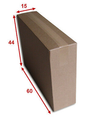 5 boîtes emballages cartons  n° 68A - 600x150x440 mm - simple cannelure