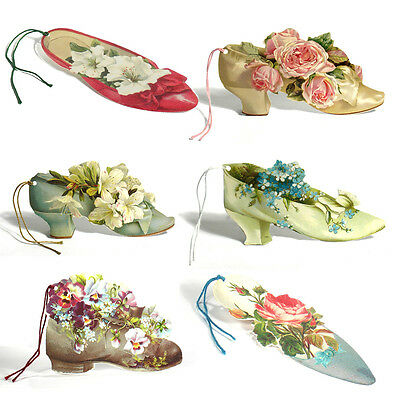 150 Shoes & Boots filled with Flowers, Die-cut Gift Tags ET0002