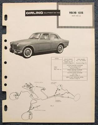 VOLVO 122S GIRLING Car Brakes Data Guide May 1961