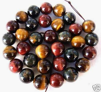 12mm Multicolor Tiger's Eye Round Beads 15.5''
