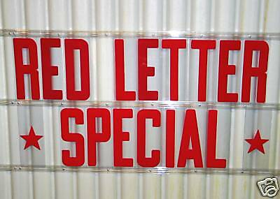 "8"" Changeable ALL RED colored Sign Letters 176 ct Set"