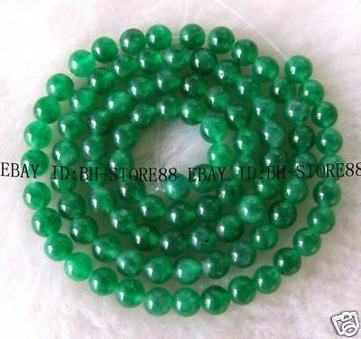 4mm Beautiful Green Jade Round Beads 15''