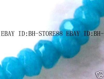 3x6mm Jade Roundel Faceted Beads 15.5''