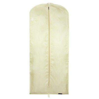 "Cream Showerproof Dress Cover Garment Clothes Protector Bag 60"" Hangerworld"