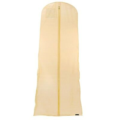 "Ivory Showerproof Wedding Dress Cover Prom Garment Clothes Bag 72"" Hangerworld"