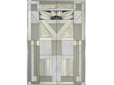 20x30 MISSION STYLE White Frosted Stained Art Glass Window Suncatcher