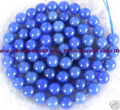 New! 6mm Beautiful Blue Jade Round Gemstone Beads 15''
