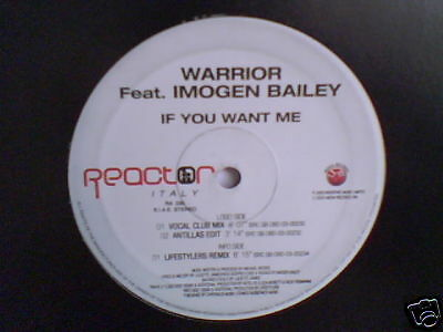 WARRIOR feat. IMOGEN BAILEY If you want me 12""