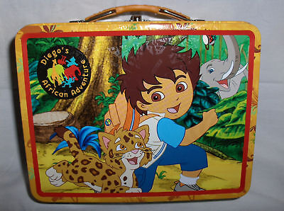 Diego's African Adventure`Metal Lunchbox`New`Free To US
