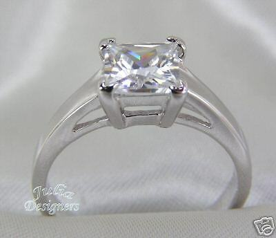 1 ct Princess Cut Engagement/Wedding Ring, Size 7