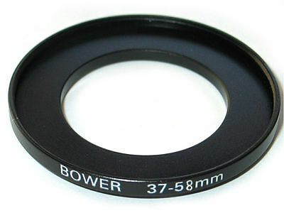 Step-up Camera lens adapter ring 37-58 37mm-58mm Anodized Black Metal NEW US